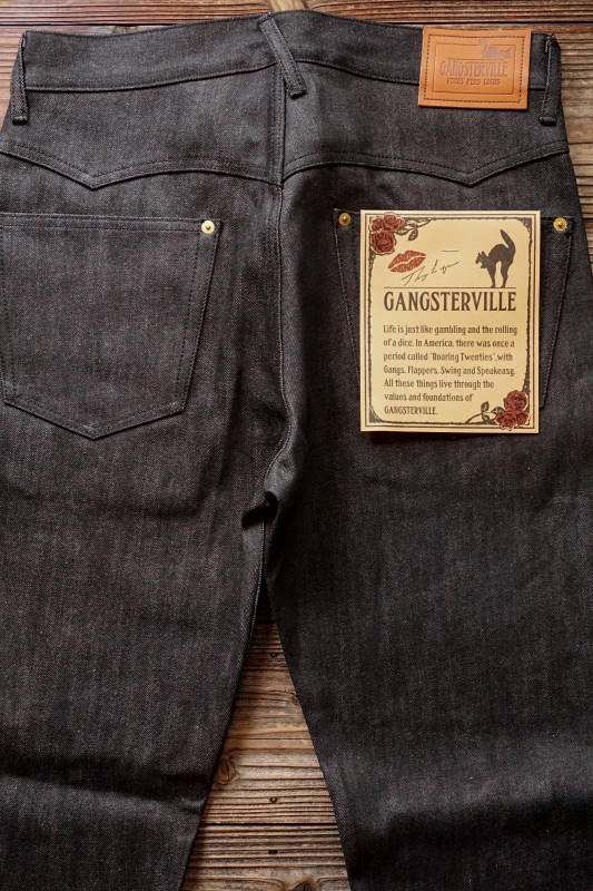 GANGSTERVILLE THUG - DENIM SLIM ※BLACK RIGID