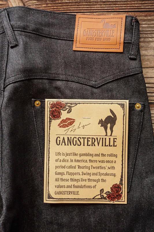 GANGSTERVILLE THUG - DENIM SLIM ※BLACK RIGID