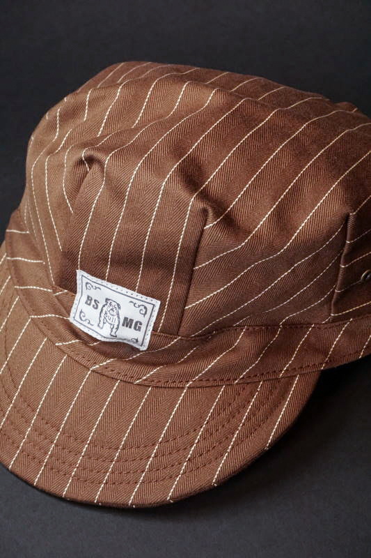 B.S.M.G. STRIPE WORK - CAP BROWN