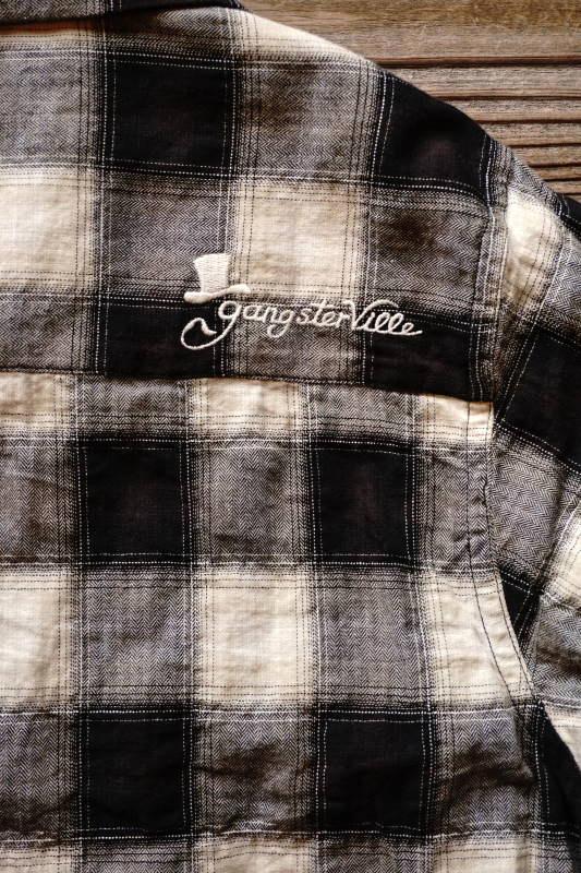 GANGSTERVILLE JAMES - L/S SHIRTS BLACK