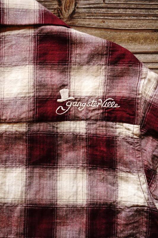 GANGSTERVILLE JAMES - L/S SHIRTS BURGUNDY