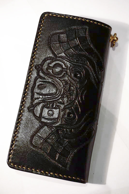 B.S.M.G. B.O. Emboss Wallet PAY YOU BULL DOG BLACK