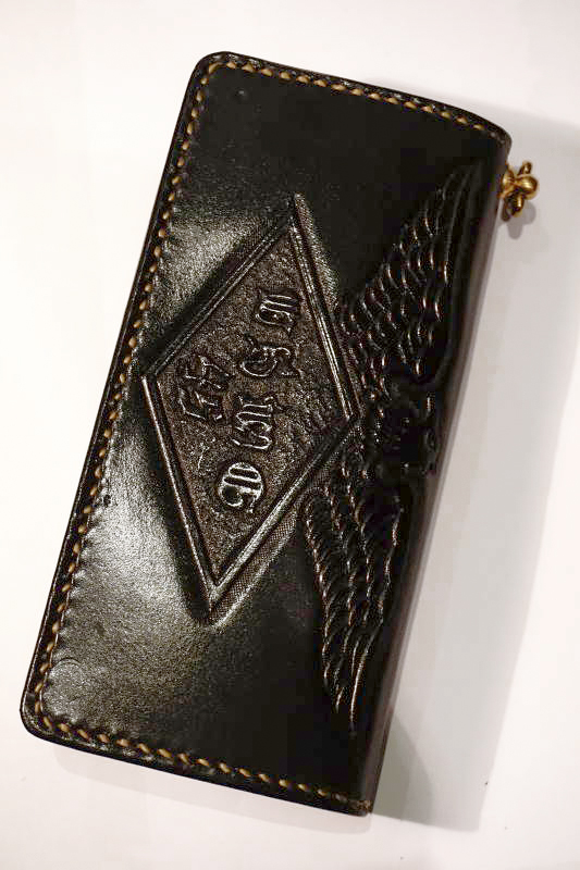 B.S.M.G. B.O. Emboss Wallet PAY YOU EAGLE BLACK