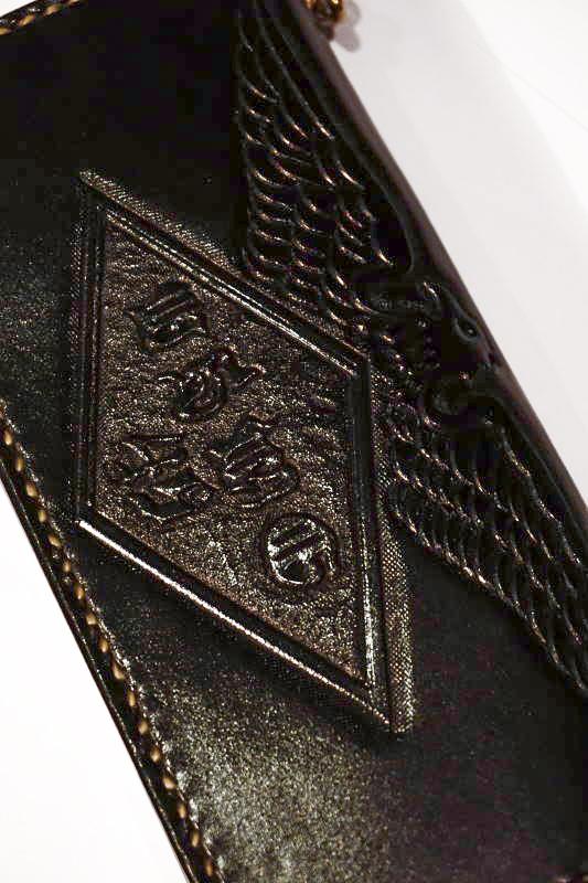 B.S.M.G. B.O. Emboss Wallet PAY YOU EAGLE BLACK