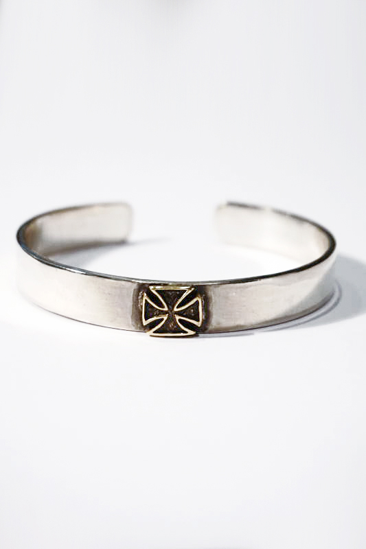 B.S.M.G. Cross - Bangle Silver925×Brass