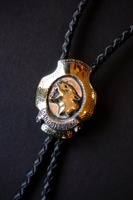 "GANGSTERVILLE×galcia BOLO - TIE ""SKULL & PANTHER"" BRASS"
