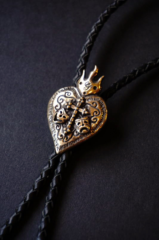 """GANGSTERVILLE×galcia BOLO - TIE """"TWO FACE"""" BRASS"""