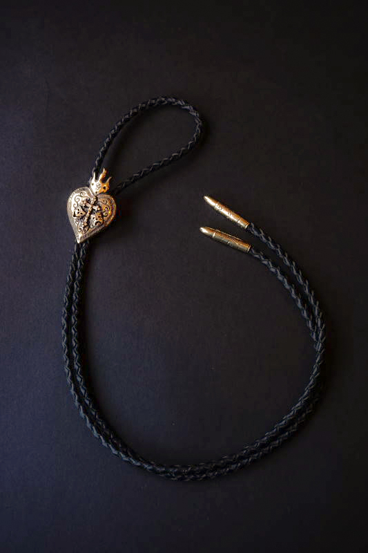 "GANGSTERVILLE×galcia BOLO - TIE ""TWO FACE"" BRASS"