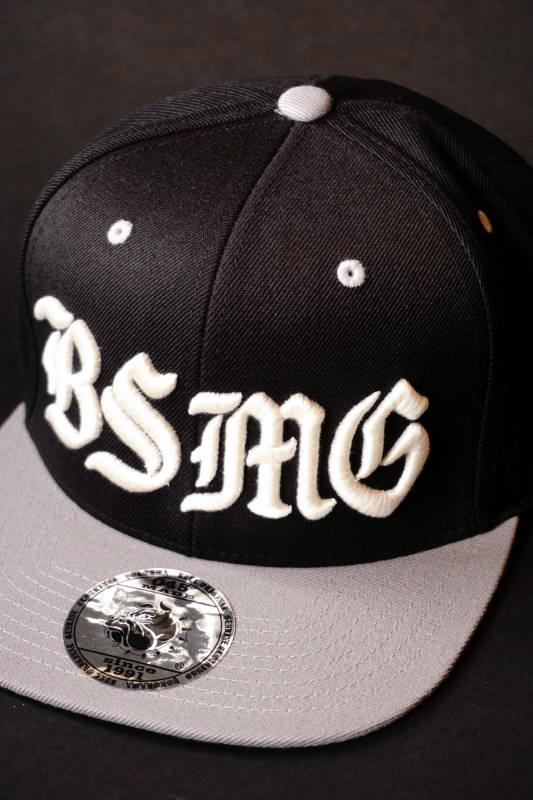 B.S.M.G. BASEBALL - CAP BLK×GRY