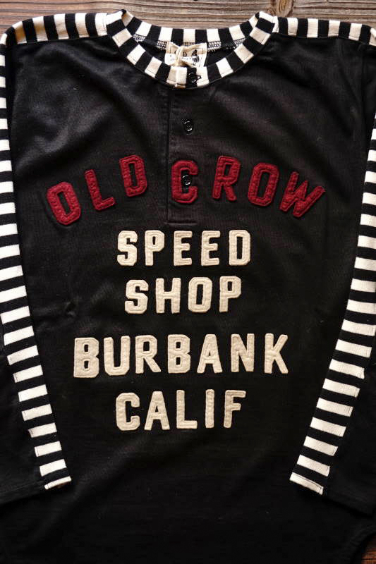 OLD CROW MOTORCYCLE - L/S T-SHIRTS BLACK