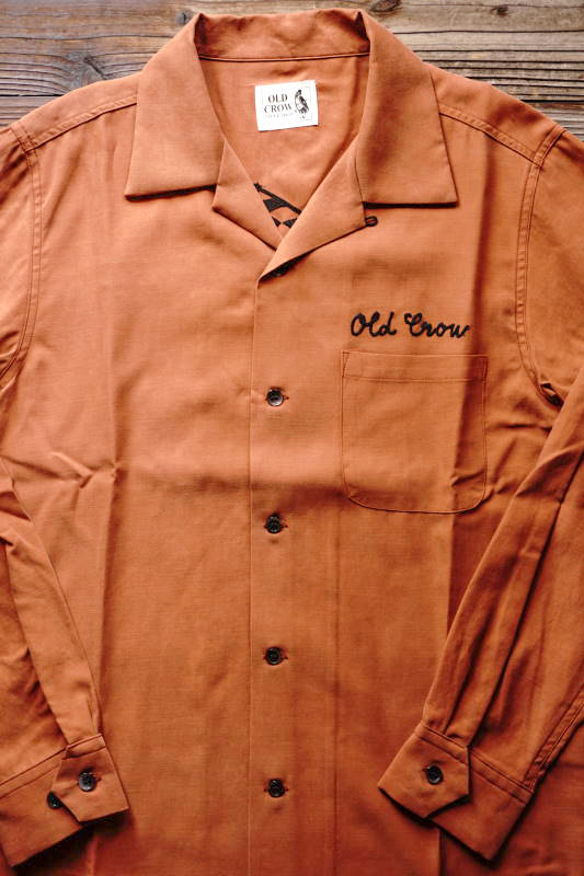 OLD CROW RACING - L/S SHIRTS ORANGE