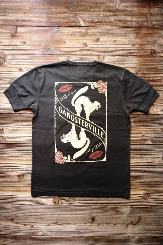 GANGSTERVILLE THUG CAT - S/S HENRY T-SHIRTS BLACK