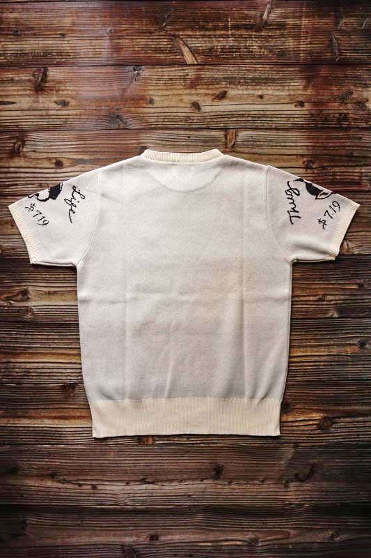 GANGSTERVILLE THUG SCROLL - S/S SUMMER KNIT IVORY