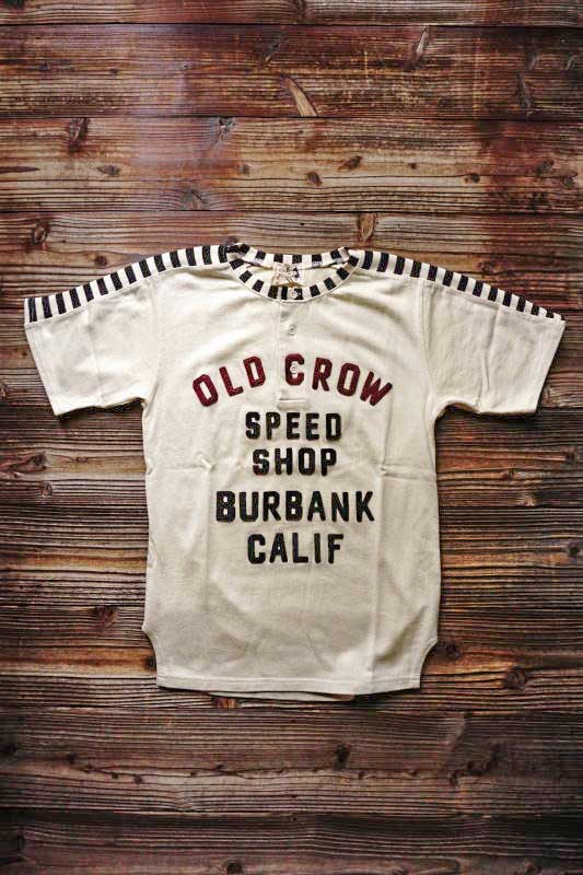 OLD CROW MOTORCYCLE - S/S T-SHIRTS IVORY
