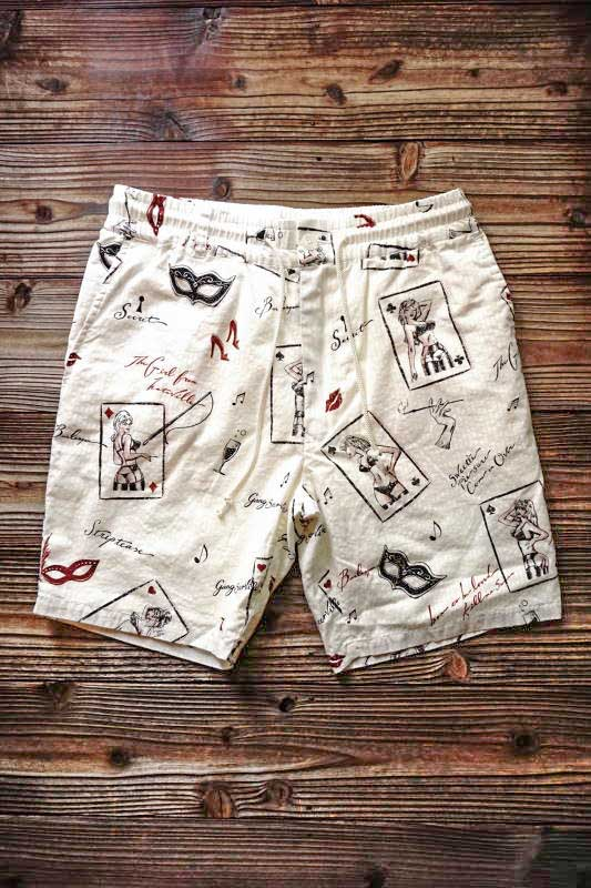 GANGSTERVILLE THUG QUEEN - SHORTS IVORY