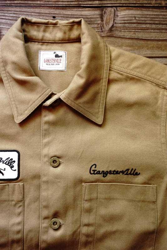GANGSTERVILLE GREASER - S/S SHIRTS BEIGE