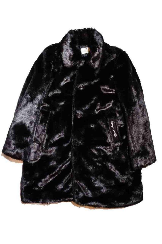GANGSTERVILLE RIZE ABOVE - FUR COAT BLACK LONG