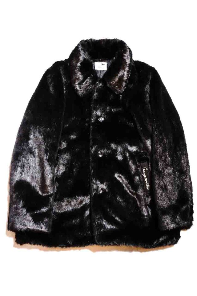 GANGSTERVILLE RIZE ABOVE - FUR COAT BLACK MIDDLE