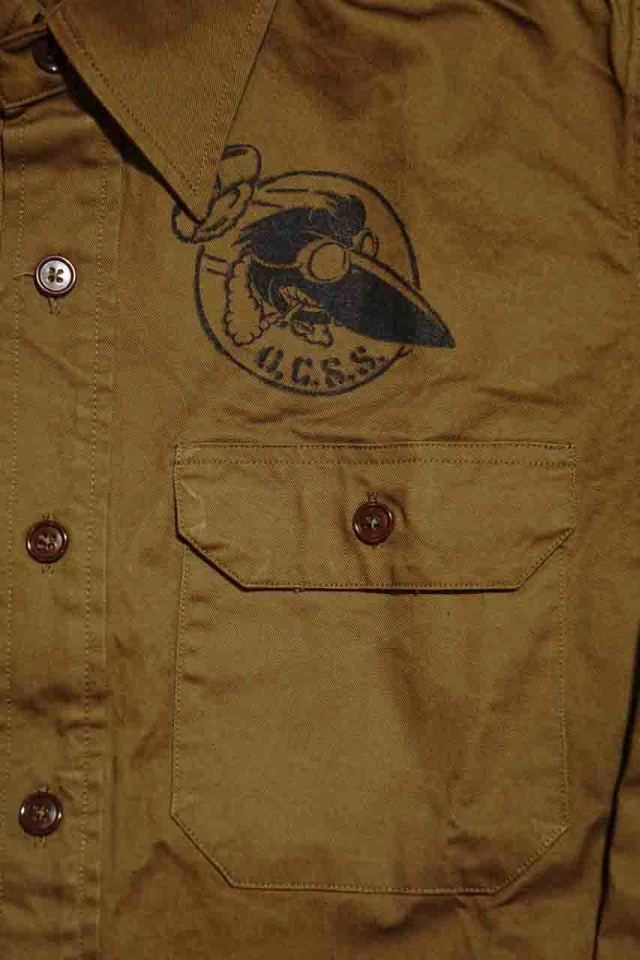 OLD CROW CROW OFFICERS - L/S SHIRTS KHAKI