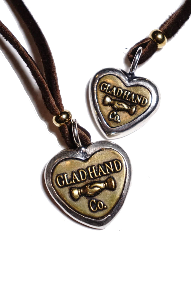 "GLAD HAND BUTTON CHARM ""HEART"" MADE IN U.S.A."