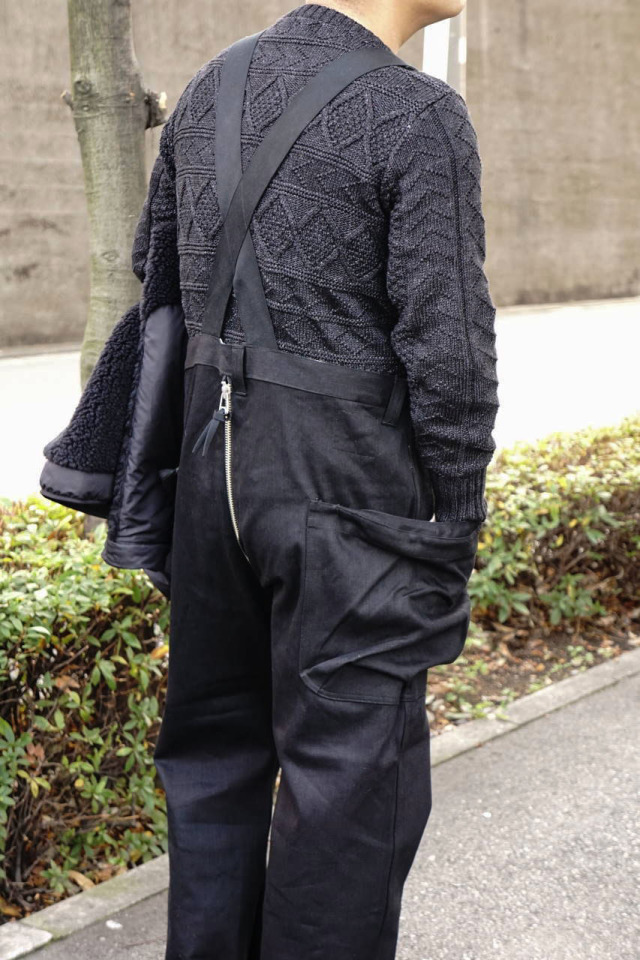 "COMFY OUTDOOR GARMENT ""UNUSELESS OVERALLS"" BLACK"