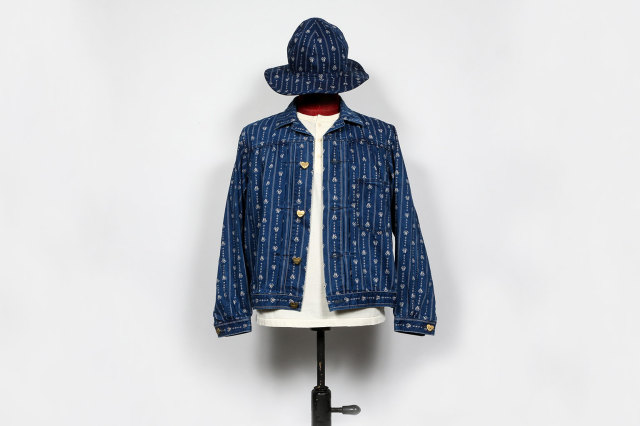 "BY GLAD HAND HEARTLAND - JACKET INDIGO ""VINTAGE FINISH"""