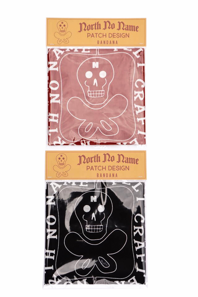 "NORTH NO NAME NNN PATCH PATTERN BANDANA ""SKULL"""