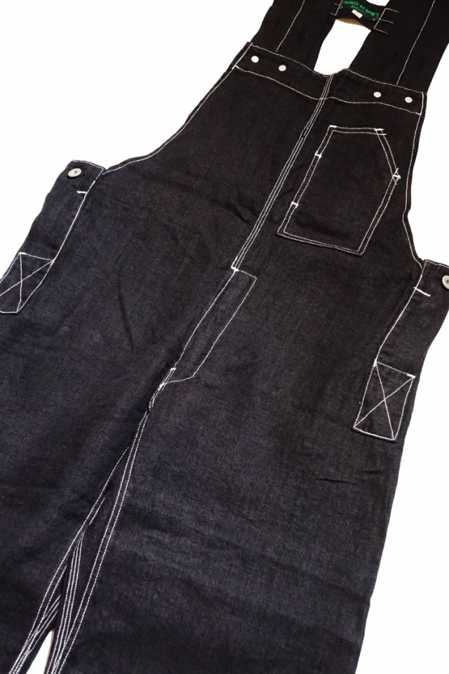 NORTH NO NAME 30's TYPE LINEN OVERALL BLACK