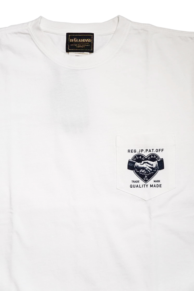 BY GLAD HAND HEARTLAND DAILY - S/S T-SHIRTS WHITE×NAVY