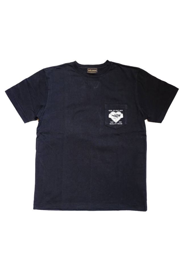 BY GLAD HAND HEARTLAND DAILY - S/S T-SHIRTS BLACK×IVORY