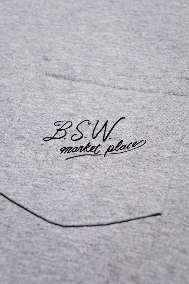 "B.S.W. ORIGINAL ""HAT"" Pocket Tee GRY/BLK"
