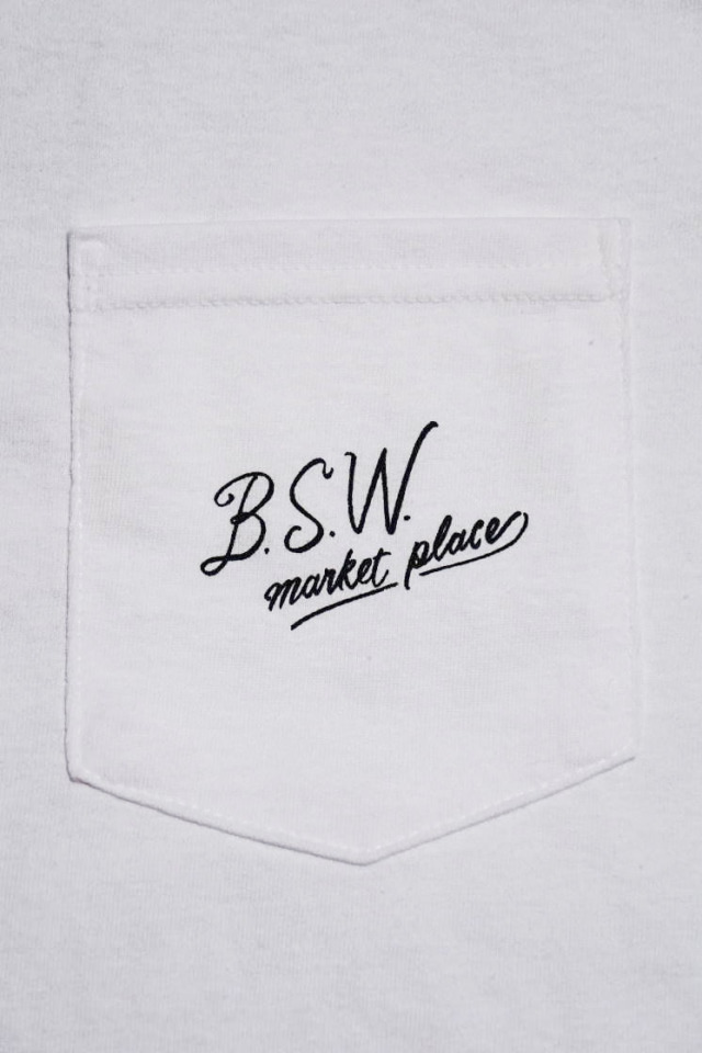 "B.S.W. ORIGINAL ""A MANHOOD'S TAILOR"" Pcket Tee WHITE"