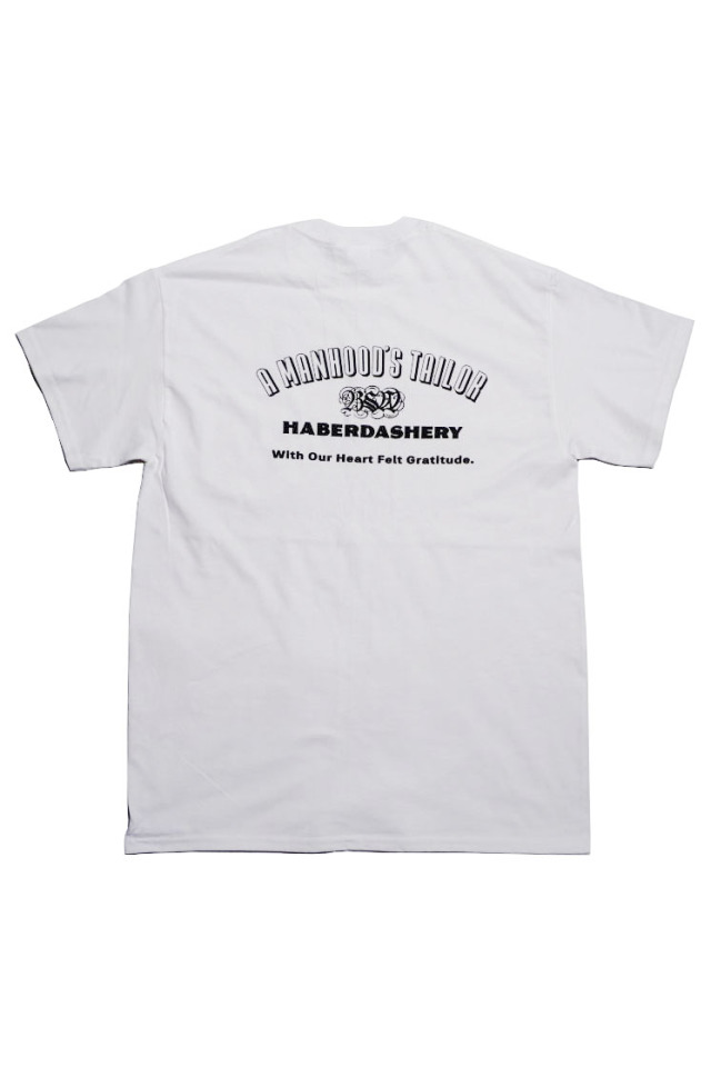 "B.S.W. ""A MANHOOD'S TAILOR"" Pcket Tee WHITE"