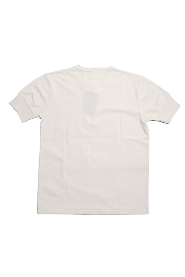 GANGSTERVILLE STIMULATOR DAILY - S/S HENRY NECK T-SHIRTS WHITE