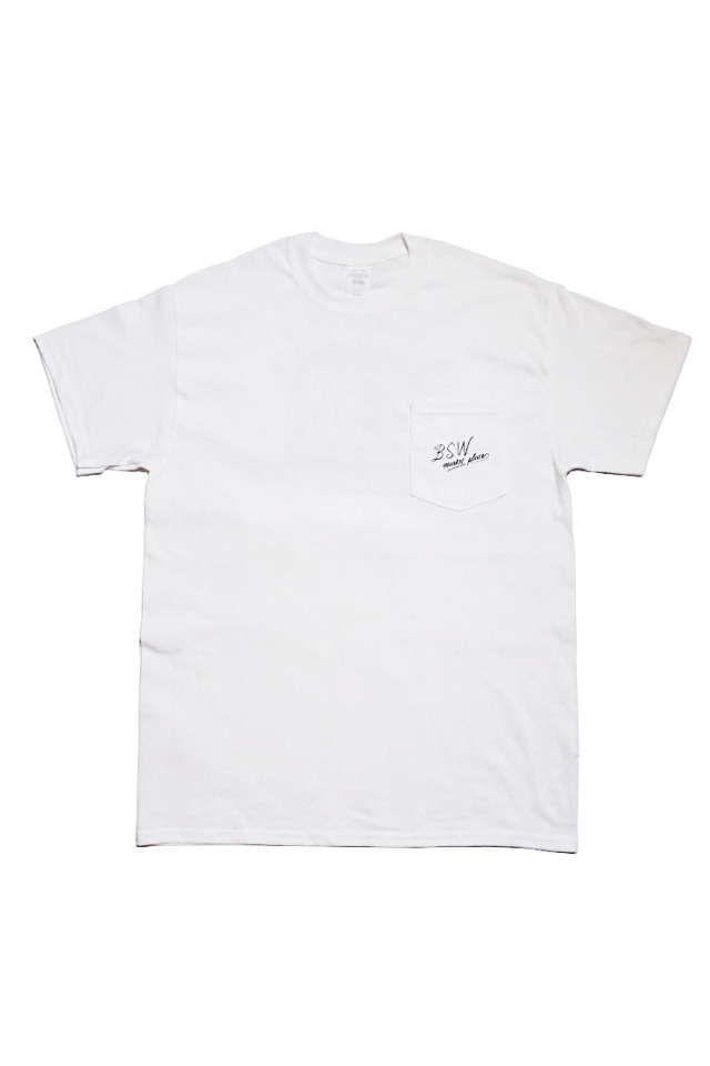 "B.S.W. ORIGINAL ""HAT"" Pocket Tee WHT/BLK"