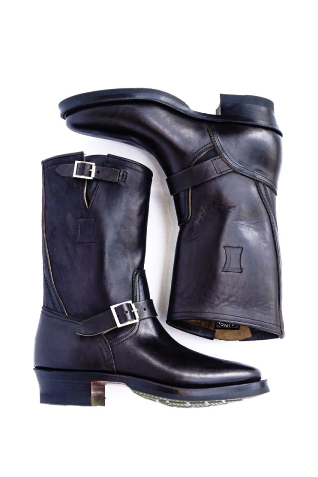 CLINCH Engineer boots Horsebutt overdye BLACK