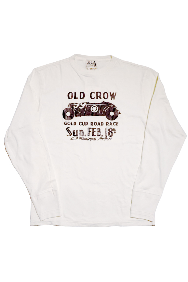 OLD CROW GOLD CUP - L/S T-SHIRTS WHITE