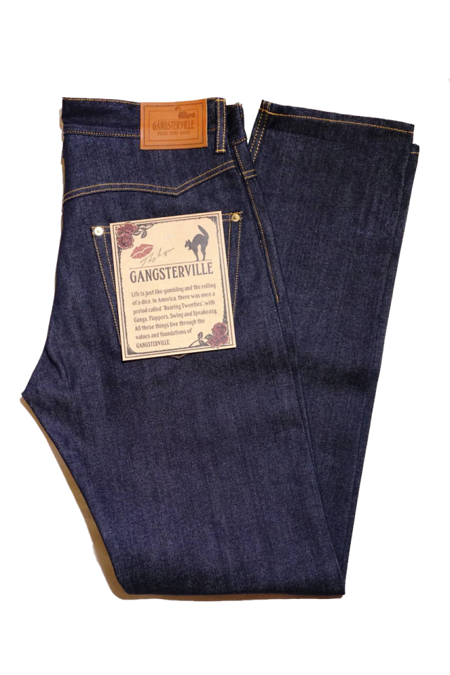GANGSTERVILLE THUG - DENIM SLIM ※INDIGO RIGID
