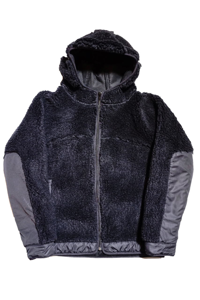 "COMFY OUTDOOR GARMENT ""RABBIT HOODIE"" BLACK/BLACK"