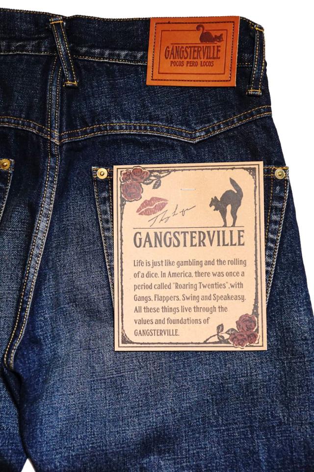 """GANGSTERVILLE THUG - DENIM SLIM ※INDIGO """"VINTAGE FINISH"""""""