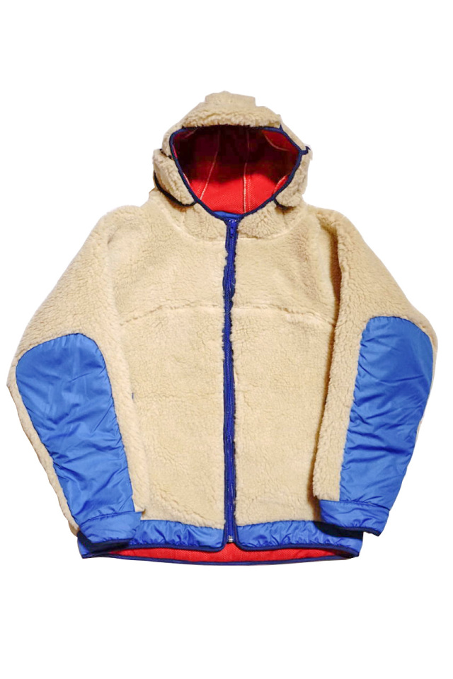 "COMFY OUTDOOR GARMENT ""RABBIT HOODIE"" BEIGE/R.BLUE"
