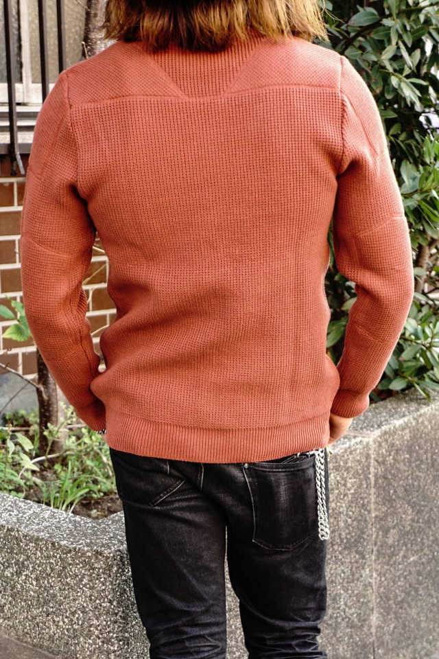 ADDICT CLOTHES JAPAN ACVM PADDED WAFFLE COTTON KNIT FADE RED