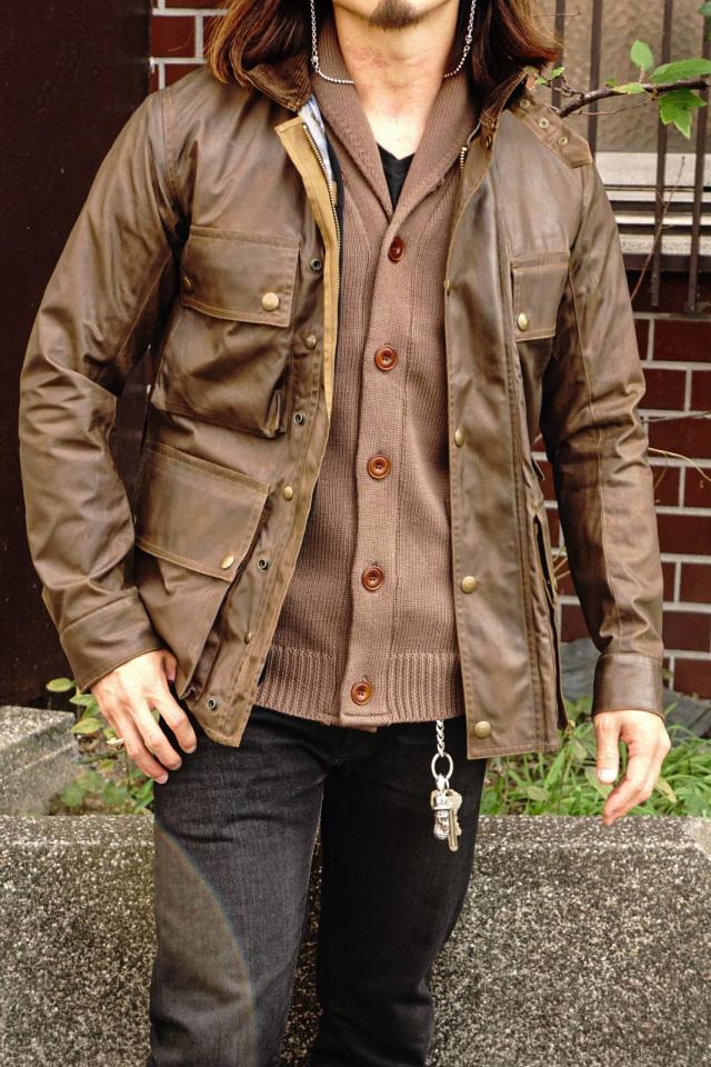 ADDICT CLOTHES JAPAN ACVM COTTON SHAWL COLLAR KNIT WALNUT