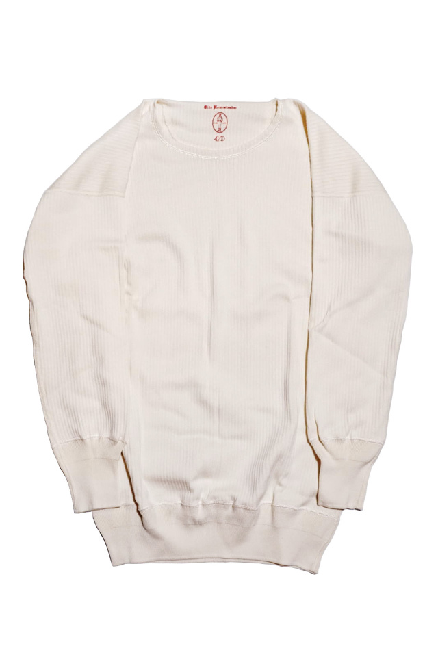 "Olde Homesteader ""Crew Neck Longsleeve"" – Swedenish Army Rib – Ivory"