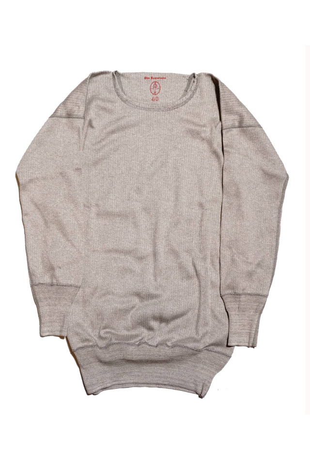 "Olde Homesteader ""Crew Neck Longsleeve"" – Swedenish Army Rib – Mottled Grey"