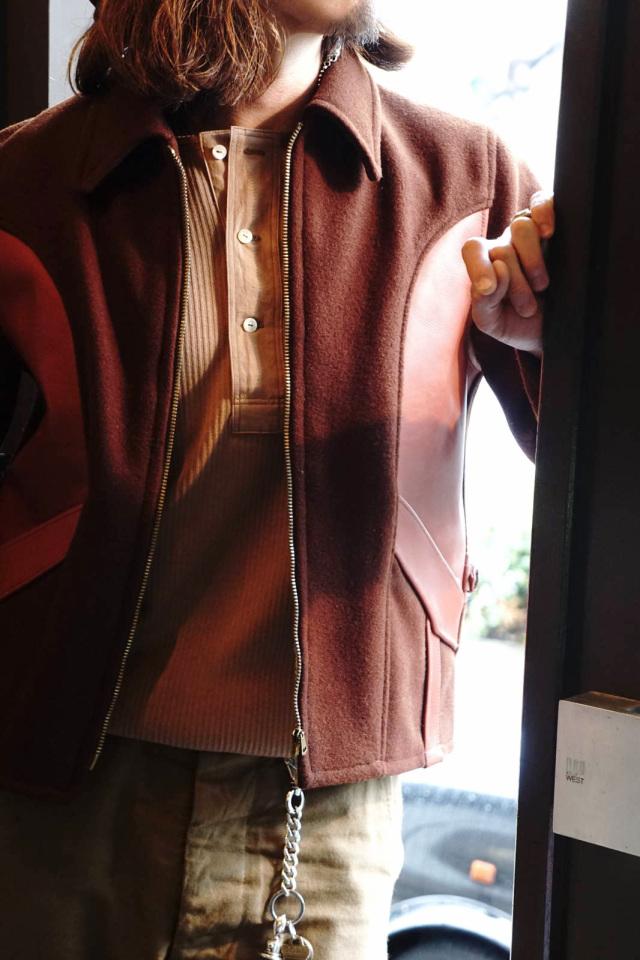 "Olde Homesteader ""Henley Neck Longsleeve"" – Swedenish Army Rib – Rustic Brown"