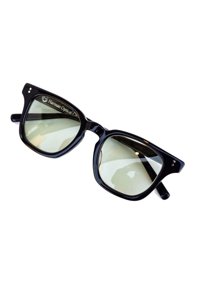 "HARMAN OPTICAL ""LEON"" BLACK×GREEN"