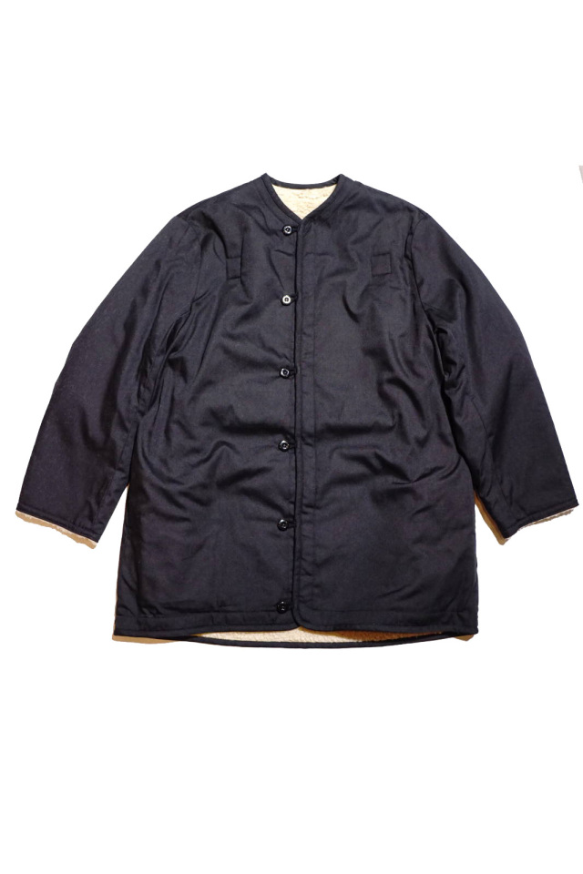GANGSTERVILLE RISE ABOVE - PILE COAT BLACK×NATURAL