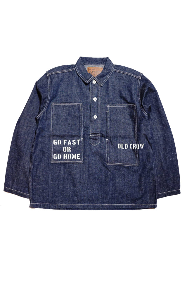 OLD CROW GLORY CROW - L/S PULLOVER SHIRTS JACKET INDIGO