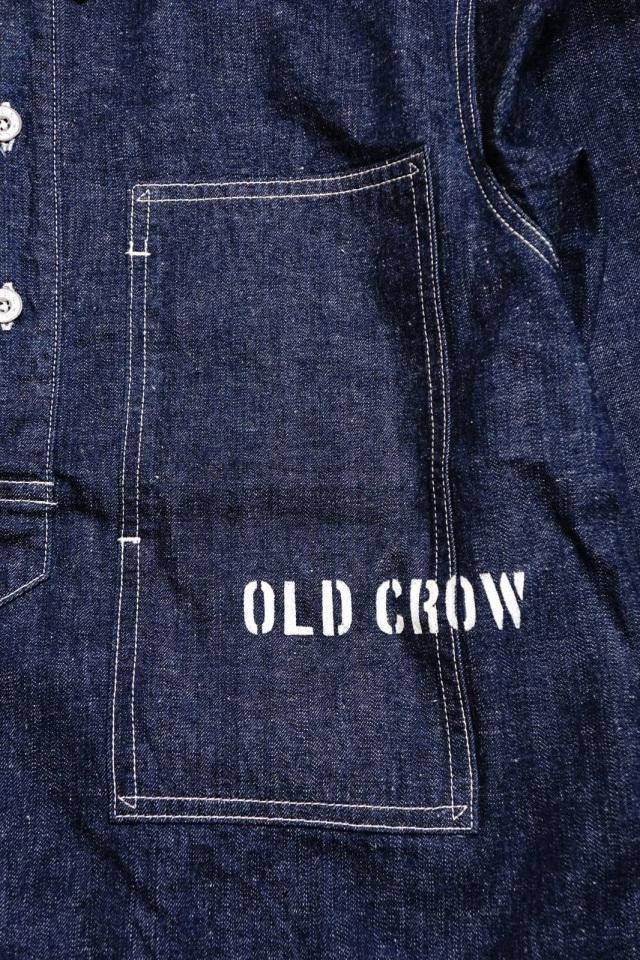 OLD CROW GLORY CROW - L/S PULLOVER SHIRTS JACKET INDIGO